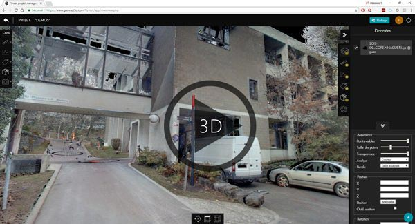 3D Web Point Cloud